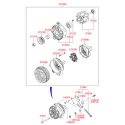 Крышка генератора задняя (Hyundai-KIA) 3739022650