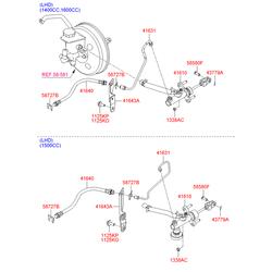 Главный цилиндр сцепления (Hyundai-KIA) 416101G900