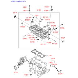 Головка блока цилиндров (Hyundai-KIA) 2210026100