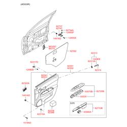 Саморез ручки двери (Hyundai-KIA) 1018805163