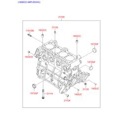 Блок цилиндров (Hyundai-KIA) 2110026852