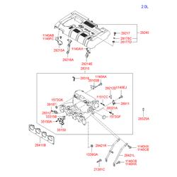 Болт декоративной крышки двигателя М6 (Hyundai-KIA) 2921723601