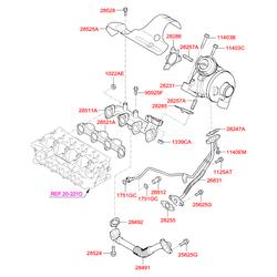 Болт защитного кожуха выпускного коллектора (Hyundai-KIA) 2852823200