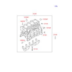 Заглушка блока цилиндров (Hyundai-KIA) 1573235003