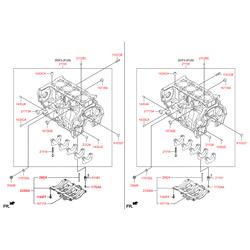 Заглушка блока цилиндров (Hyundai-KIA) 1573435000