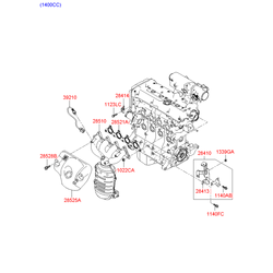 Коллектор выпускной (Hyundai-KIA) 285112A400