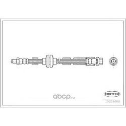 Тормозной шланг (Corteco) 19034666