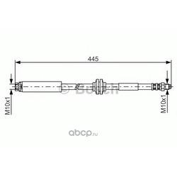 Тормозной шланг (Bosch) 1987476180