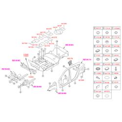 Резиновая заглушка днища (Hyundai-KIA) 8413422000