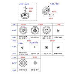 Диск штамповка (Hyundai-KIA) 529101G100