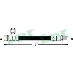 Тормозной шланг (Lpr) 6T48040