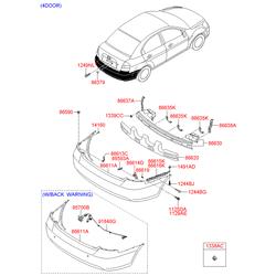Клипсы заднего бампера (Hyundai-KIA) 8574428000