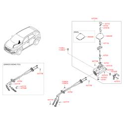 Возвратная пружина рычага МКПП (Hyundai-KIA) 437431C000