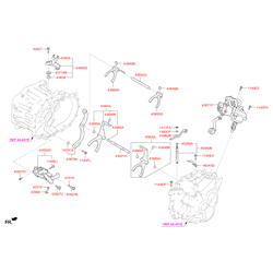 Втулка рычага КПП (Hyundai-KIA) 4388539000
