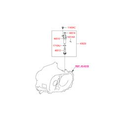 Шестерня спидометра (Hyundai-KIA) 4362428040