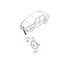 Звуковой сигнал (Hyundai-KIA) 966201G000
