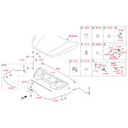 Клипса уплотнителя капота (Hyundai-KIA) 864384A100