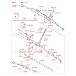 Уплотнительные кольца рулевой рейки (Hyundai-KIA) 577583C000