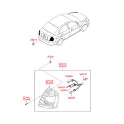 Клипса фонаря заднего правого (Hyundai-KIA) 8691022000