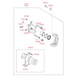 Поршень тормозного суппорта (Hyundai-KIA) 581121G000