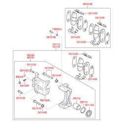 Суппорт (Hyundai-KIA) 581104L000