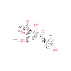 Тормозной суппорт (Hyundai-KIA) 581901GA00