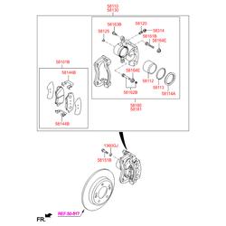Штуцер прокачки тормозов (Hyundai-KIA) 581201G000