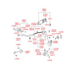 Клипса крепления (Hyundai-KIA) 8137538000