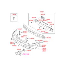 Клипса крепления бампера (Hyundai-KIA) 866992D000