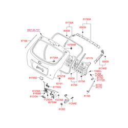 Клипса обивки багажника (Hyundai-KIA) 8175822200