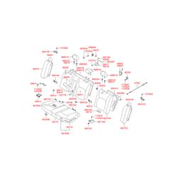 Фиксатор подушки сидения (Hyundai-KIA) 8916022000