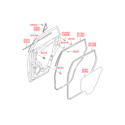 Фиксатор уплотнителя двери (Hyundai-KIA) 8213422000