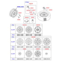 Колесные диски (Hyundai-KIA) 529101G850