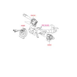 Контактный выключатель рулевой колонки (Hyundai-KIA) 934901G210
