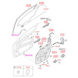 Болт крепления крыла верхний (Hyundai-KIA) 1140806141