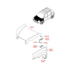Болт с двухгранной головкой (Hyundai-KIA) 1011706161