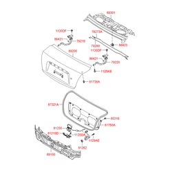 Замок багажника (Hyundai-KIA) 812101G010