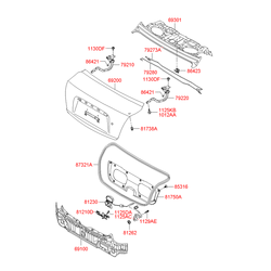 Фиксатор замка багажника (Hyundai-KIA) 812101G000