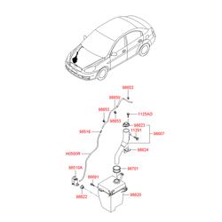 Крышка бачка стеклоомывателя (Hyundai-KIA) 986231G000