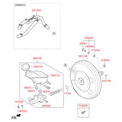 Крышка тормозного бачка (Hyundai-KIA) 585312B500