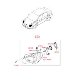 Крышка фары (Hyundai-KIA) 9219122000