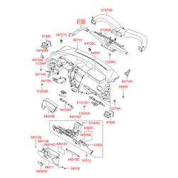 Направляющая крышки перчаточного ящика (Hyundai-KIA) 8453539000