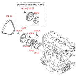 Шкив насоса гур (Hyundai-KIA) 2522626001