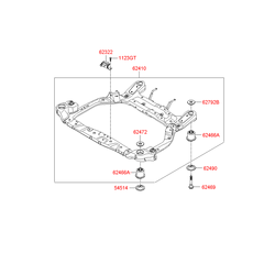 Подрамник передней подвески (Hyundai-KIA) 624001G000