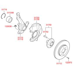 Поворотный кулак (Hyundai-KIA) 517150U001
