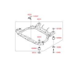 Подрамник передней подвески (Hyundai-KIA) 624001G010