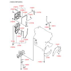 Прокладка маслоприемника (Hyundai-KIA) 2625922010