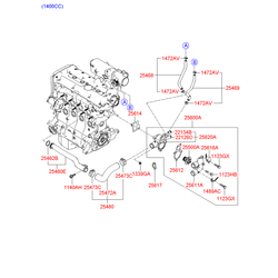 Прокладка термостата (Hyundai-KIA) 2561226870
