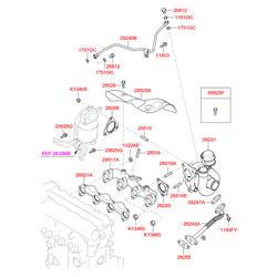 Прокладка турбокомпрессора (Hyundai-KIA) 282422A000