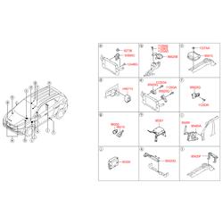 Пыльник концевика капота (Hyundai-KIA) 927363A000
